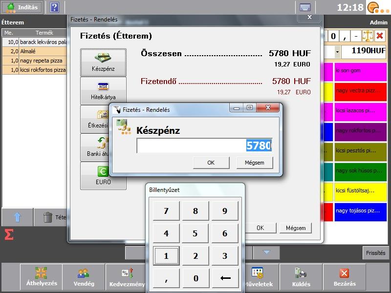 Vendéglátószoftverek fejlesztése és forgalmazása