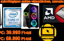 Kiváló ár-érték arányú asztali PC-k